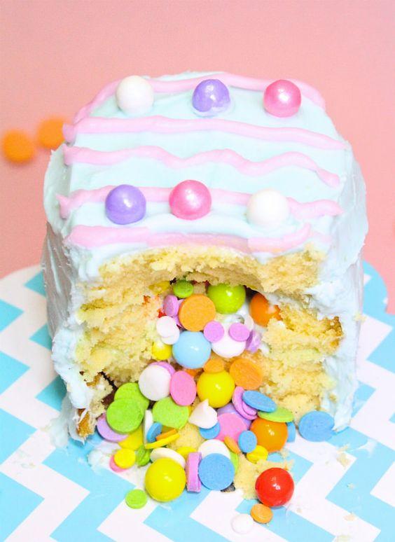 Easter egg pinata cakes