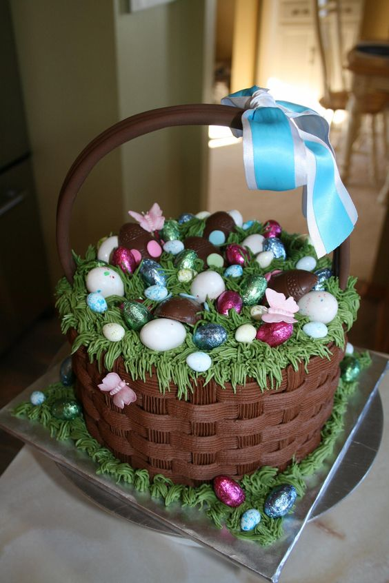 Find a basket of chocolate treats